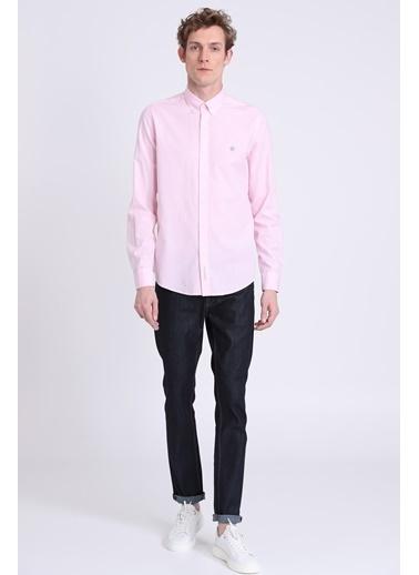 Lufian Slim Fit Uzun Kollu Gömlek Pembe